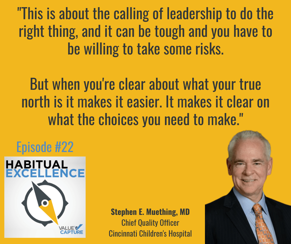 """""""This is about the calling of leadership to do the right thing, and it can be tough and you have to be willing to take some risks.  But when you're clear about what your true north is it makes it easier. It makes it clear on what the choices you need to make."""""""