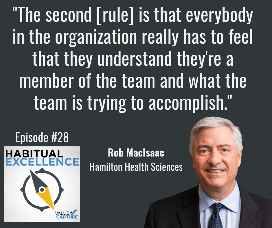 """""""The second [rule] is that everybody in the organization really has to feel that they understand they're a member of the team and what the team is trying to accomplish."""""""