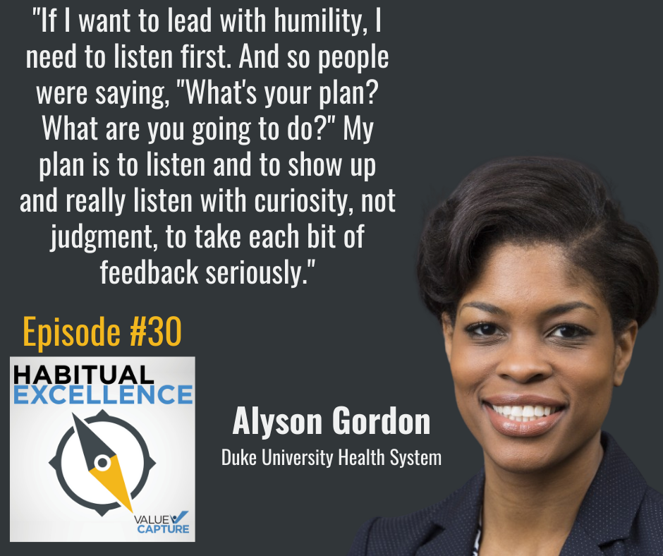 """""""If I want to lead with humility, I need to listen first. And so people were saying, """"What's your plan? What are you going to do?"""" My plan is to listen and to show up and really listen with curiosity, not judgment, to take each bit of feedback seriously."""""""
