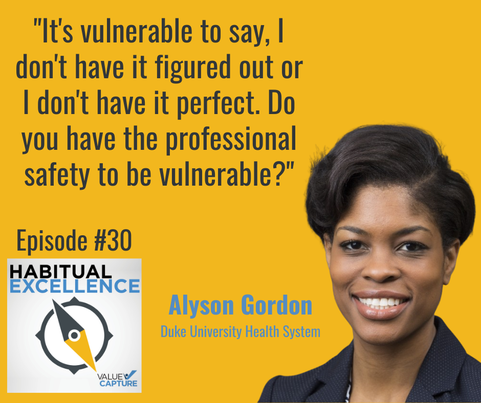 """""""It's vulnerable to say, I don't have it figured out or I don't have it perfect. Do you have the professional safety to be vulnerable?"""""""