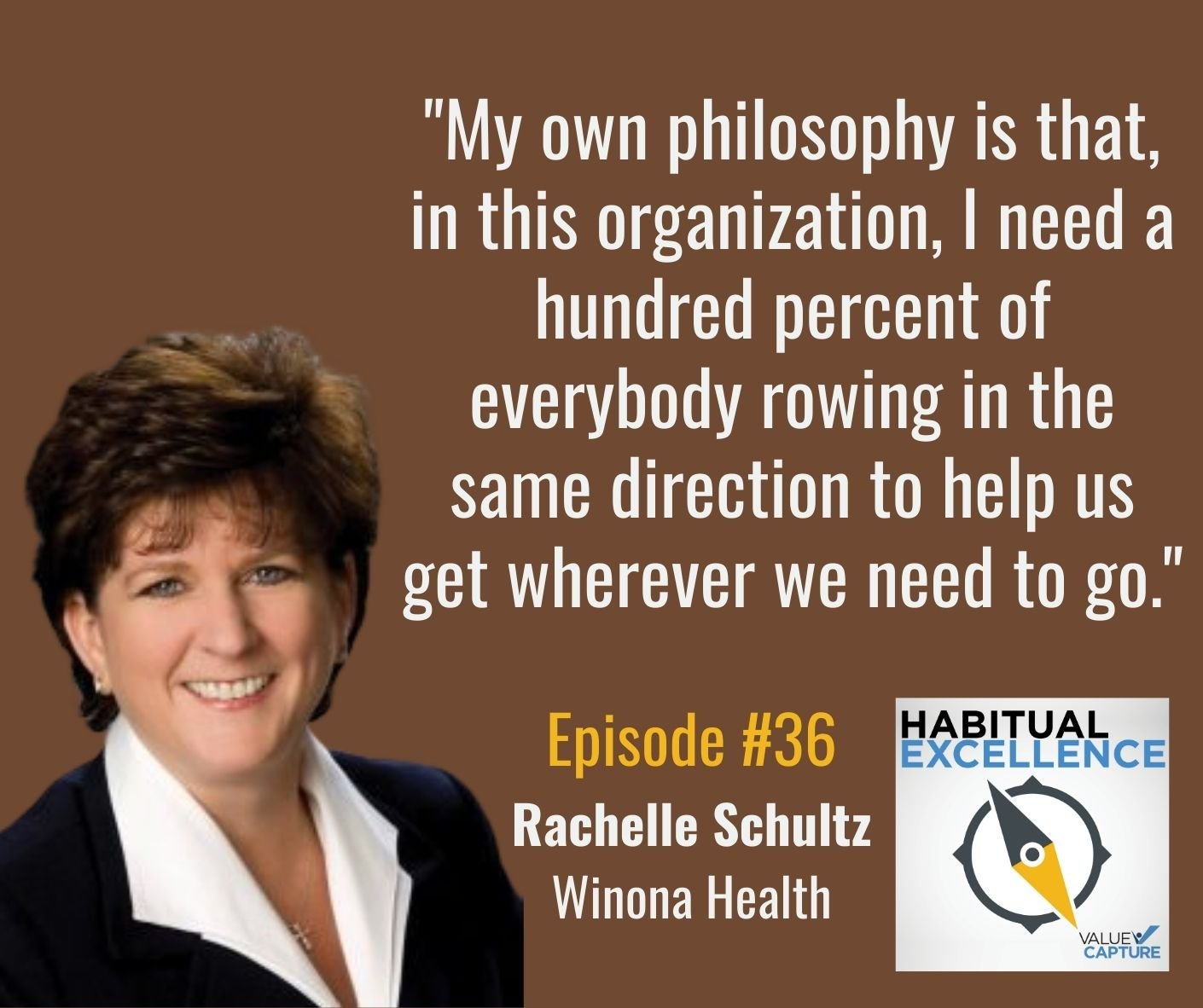 """""""My own philosophy is that, in this organization, I need a hundred percent of everybody rowing in the same direction to help us get wherever we need to go."""""""