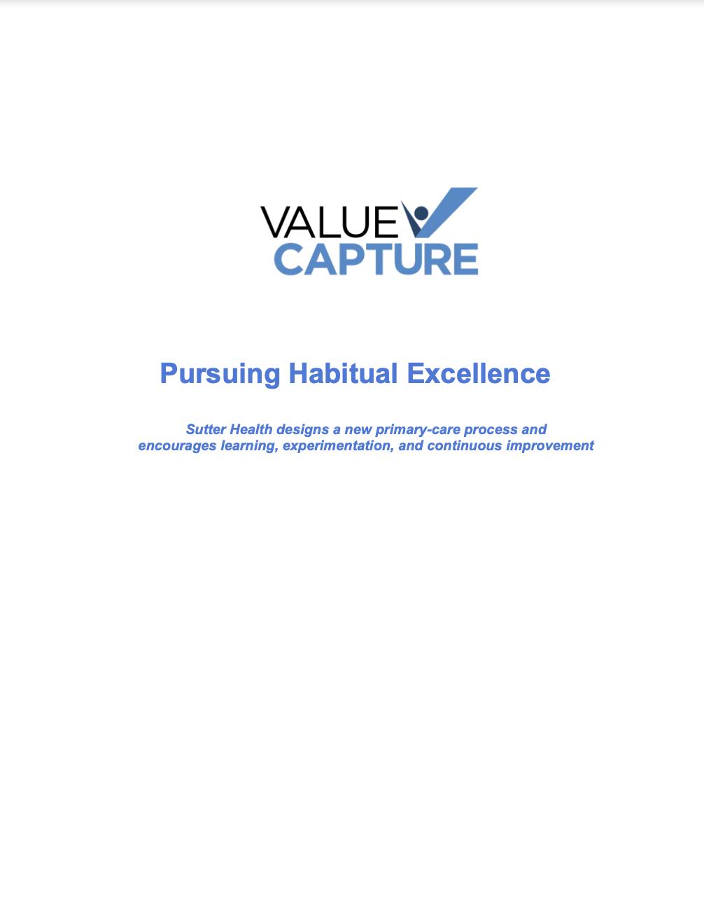 Value Capture Sutter Health White Paper